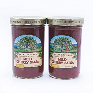 product image for Cherry Republic Mild Cherry Salsa - Chunky Sweet & Low Heat Flavor Sauce (TWO x 16 Oz Jars)
