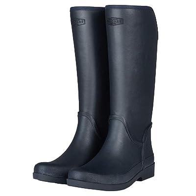 UNICARE Women's Mid-Calf Rain Boots Waterproof Rain Shoes Nonslip Tall Work Boot Rubber Rain Footwear Handmade | Rain Footwear