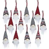 12 PCS Gnomes Christmas Tree Ornaments, Christmas Ornaments Set Bulk Clearance 2020, Handmade Plush Gnomes Santa Xmas Ornamen