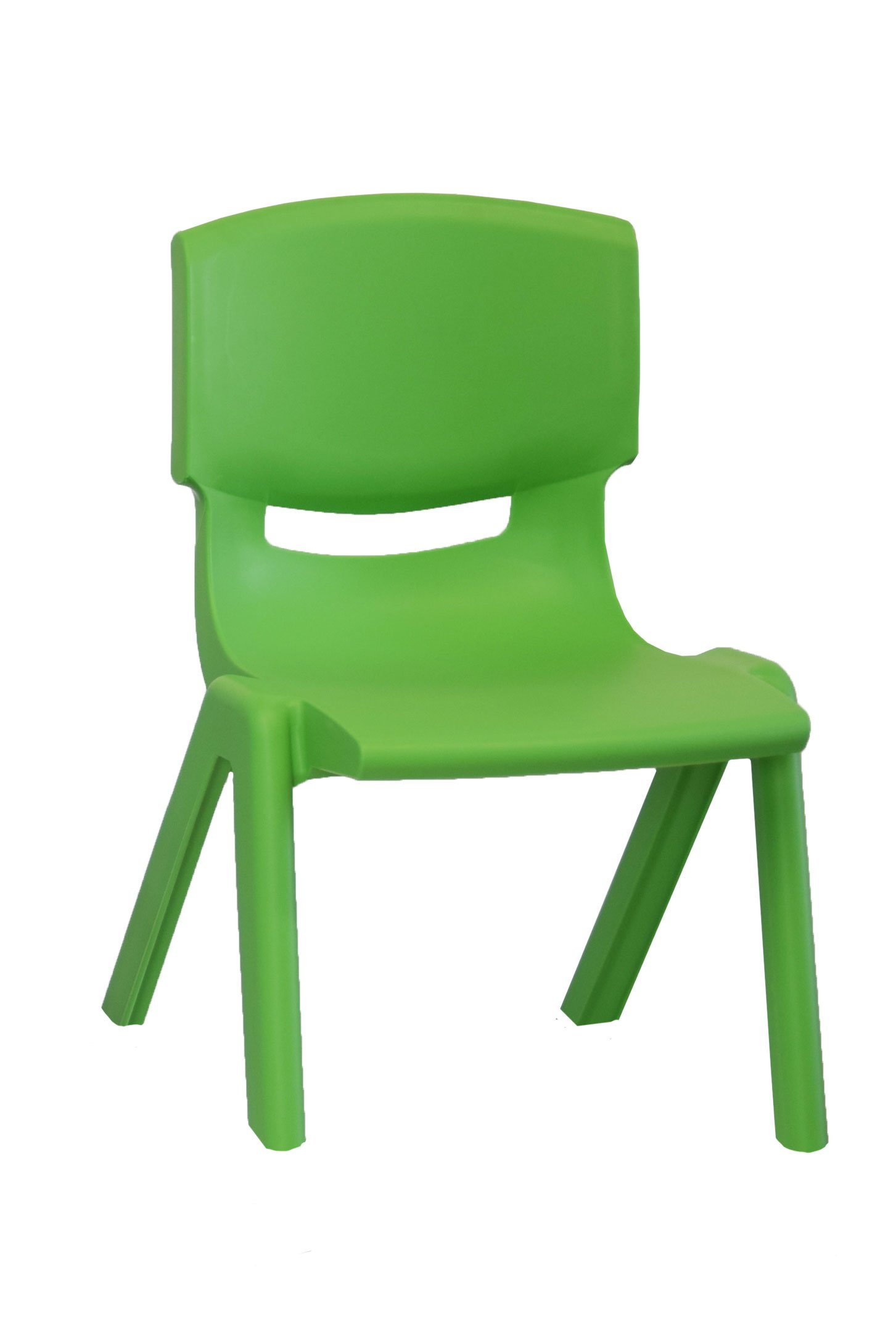 FXV Solid Plastic Chair, Green, Carton of 8