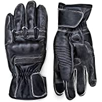 Premium Leather Motorcycle Gloves (Black) Cool,...