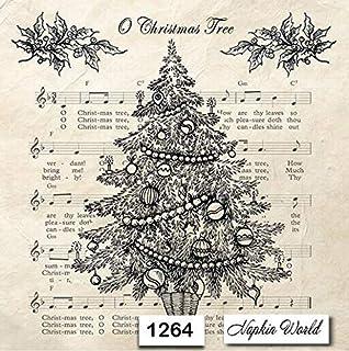 Individual Paper Decoupage Napkin Unique Creative Design Collection 236