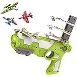 AUFUJO Bubble Catapult Plane for Kids, 2021 New Hot Toy Bubble Catapult Plane Toy Airplane, One-Click Ejection Model Foam Air