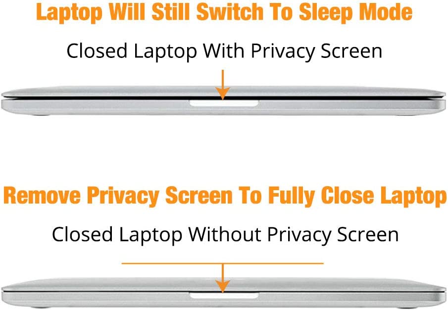 16 Privacy Screen Protector with Webcam Slide Cover for MacBook Pro 2019 Model Built-in Magnet for Easy Install and Removal