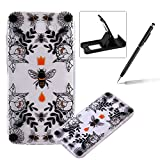 TPU Case for Samsung Galaxy J5 Prime,Clear Case for Samsung Galaxy J5 Prime,Herzzer Ultra Slim Stylish [Colorful Pattern] Soft Silicone Gel Bumper Cover Flexible Crystal Transparent Skin Protective Case