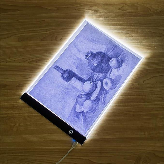 Vosarea Caja de luz LED A4 Caja de luz de rastreo de luz USB para Artistas Que dibujan dibujando animaciones: Amazon.es: Electrónica
