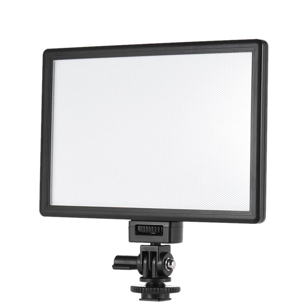 VILTROX L116T 3300K-5600K CRI 95+ LED Video Light Brightness and Color Temperature Adjustable for Canon Nikon DSLR Camera Camcorder Photography Lighting (No Batteries)