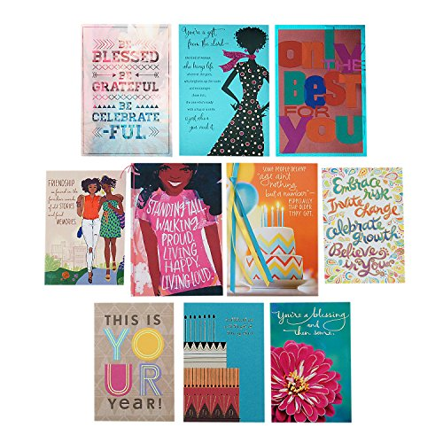Search : Hallmark Mahogany Birthday Cards Assortment (10 Cards with Envelopes)