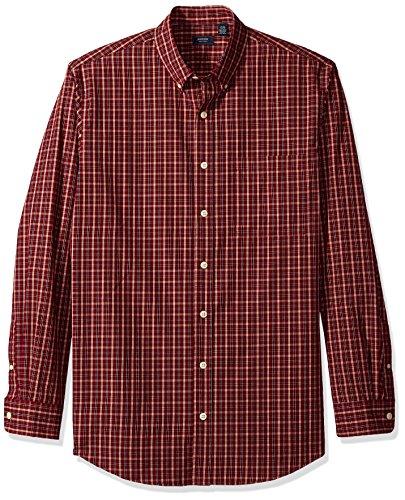 Arrow 1851 Men's Big and Tall Long Sleeve Hamilton Poplin Multi Gingham Shirt