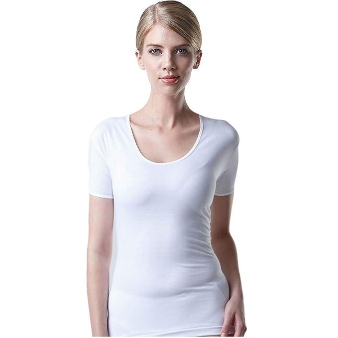 SBW TRY Women s U-Neck Cotton 100% Short Sleeve T Shirt 3 Pack Undershirt 6f5844fee9