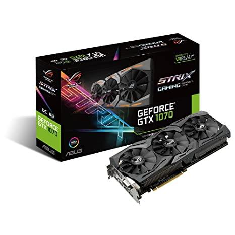 ASUS GeForce GTX 1070 8GB ROG Strix OC Edition Graphic Card STRIX-GTX1070-O8G-GAMING