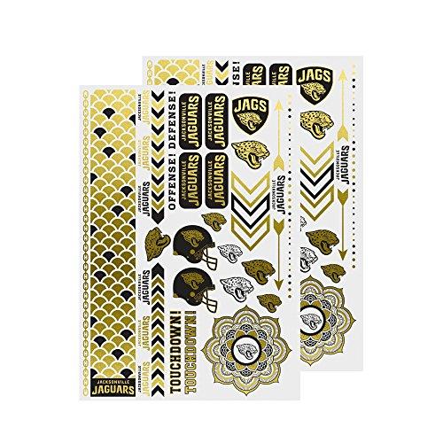 nfl-jacksonville-jaguars-metallic-body-jewelry-2-full-sheets-white