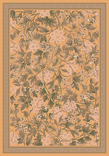 Harvest Gold Rug Octagon (Pastiche Delphi Harvest Floral Rug Rug Size: Oval 5'4