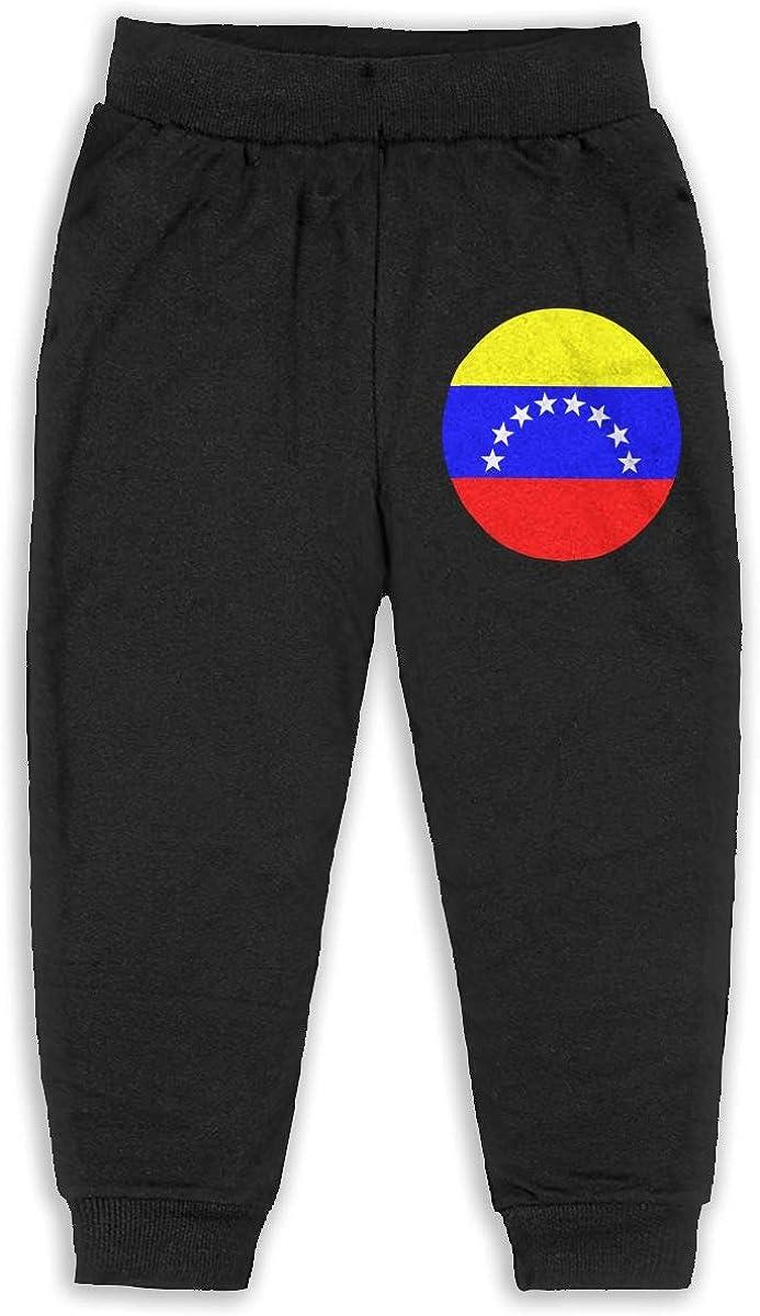 ELCW37K Kids /& Toddler Pants Soft Cozy Baby Sweatpants Circle Venezuelan Flag Fleece Pants Training Pants
