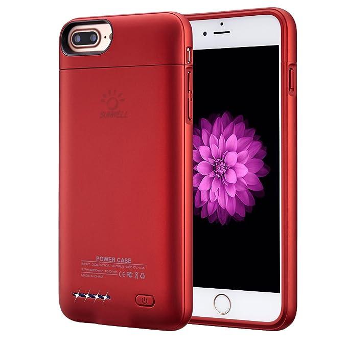amazon com iphone 8 plus 7 plus 6 plus 6s plus battery caseiphone 8 plus 7 plus 6 plus 6s plus battery case, ultra thin rechargeable iphone 7plus 6 plus 6s plus case battery with 4200mah capacity from