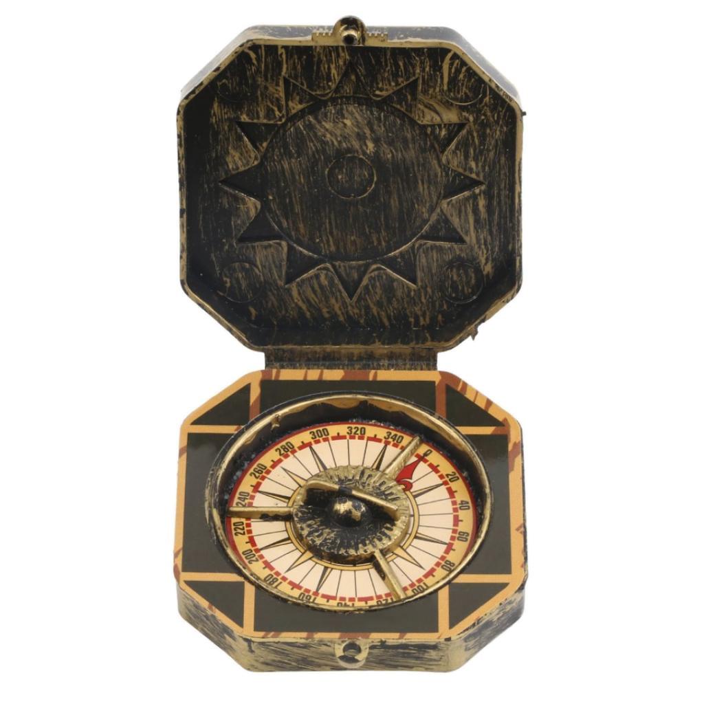 Gazechimp Boussole Caraïbes Pirate Doré Compass Costume Déguisement Sccessoire
