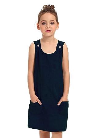 e662569afae Amazon.com  ephex Kid Toddler Girls Corduroy Cotton Pinafore Overall ...