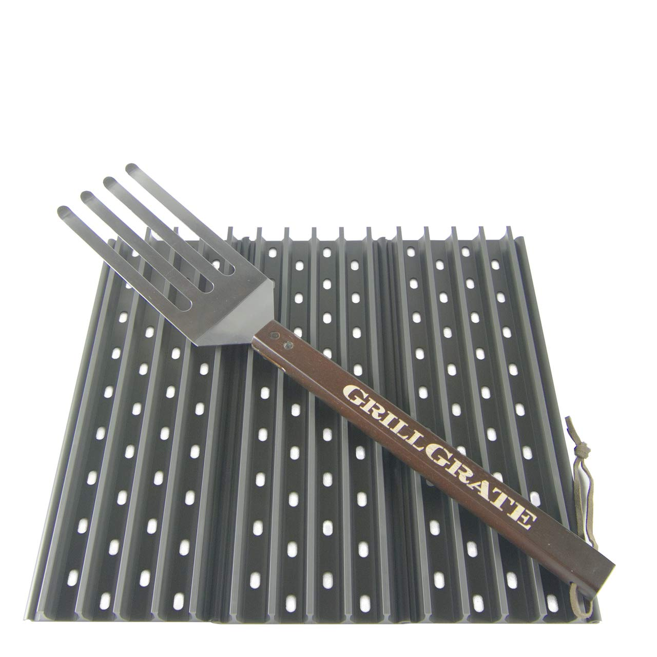GrillGrate Set of Three 13.75'' (Interlocking) + Grate Tool by GrillGrate