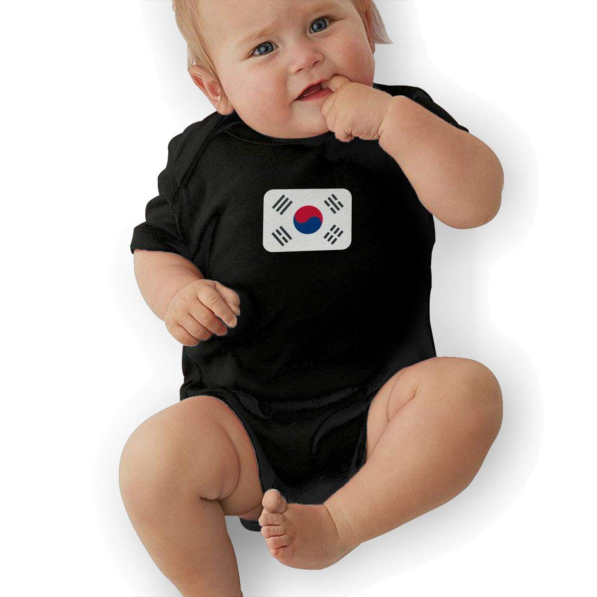 South-Korea Hip Hop Newborn Baby Short Sleeve Bodysuit Romper Infant Summer Clothing