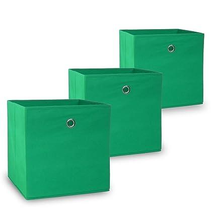 Conjunto Oslo de 3 cajas plegables en Verde