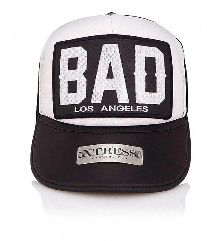 Xtress Exclusive Gorra blanca y negra con el logo BAD. Unisex: Amazon.es: Ropa y accesorios