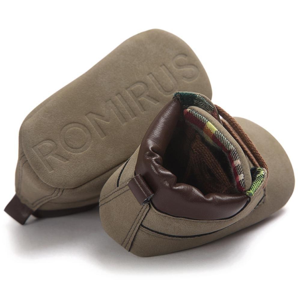 Xinantime Zapatos Beb/é Ni/ña Ni/ño Zapatos de Cuero Artifical Suave Invierno 17, Khaki