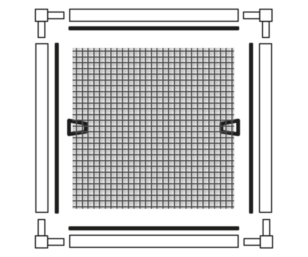 Schellenberg 70988 Insektenschutz Basic 120 x 140 cm Fliegengitter f/ür Fenster 100 x 120 cm Wei/ß
