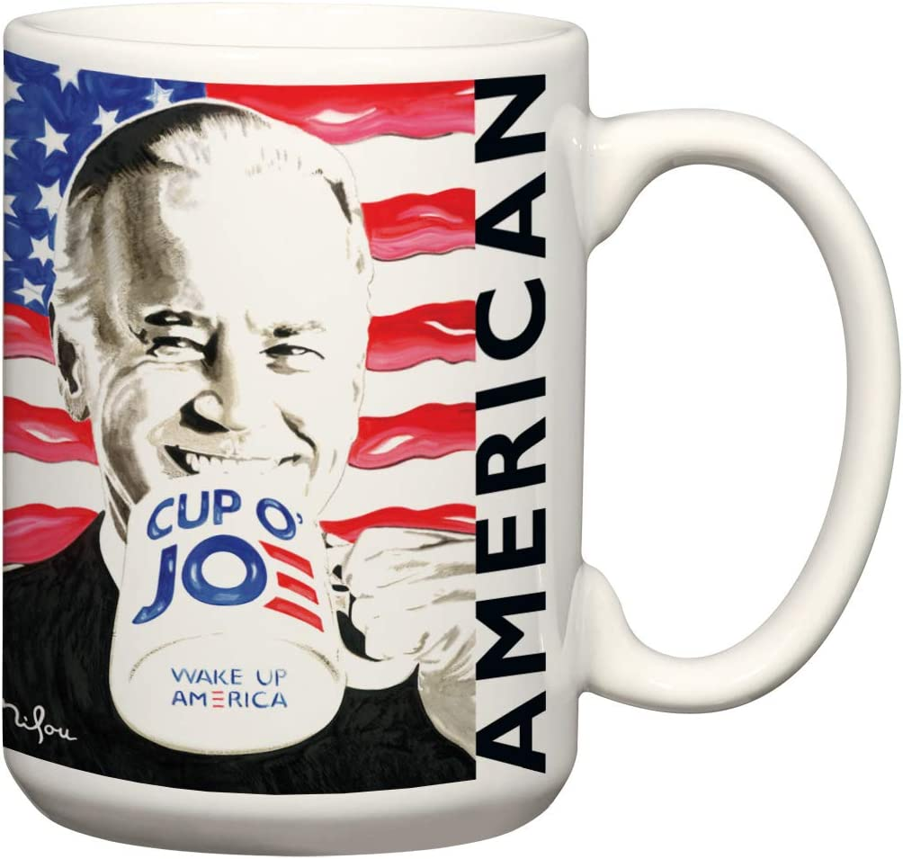 Amazon Com Cup O Joe Coffee Mug And Wonder Kamala Mug 15 Oz Wonderful Kamala Harris Vice President Coffee Mug Art By American Pop Artist Perry Milou Biden Kitchen Dining