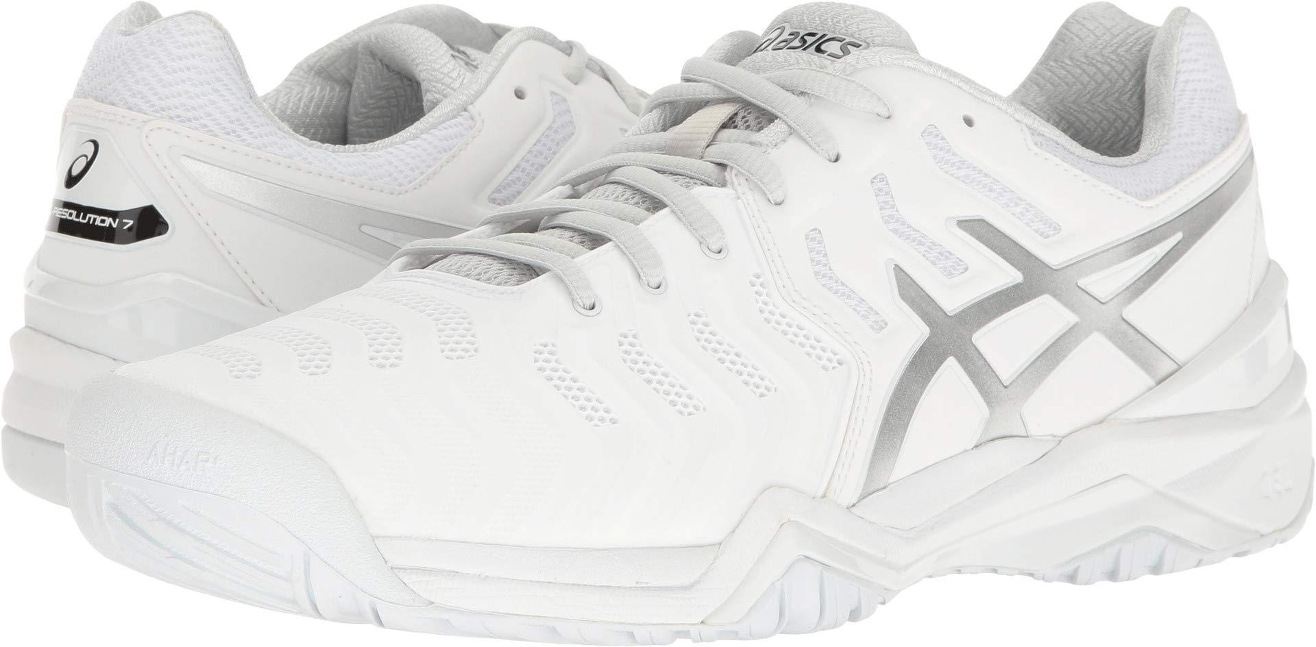 ASICS Men's Gel-Resolution 7 Tennis Shoe, White/Silver, 11 M US by ASICS