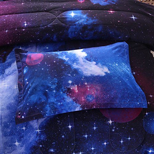 NTBED Galaxy Comforter Set full Size Sky Oil Printing Outer Space Bedding Sets