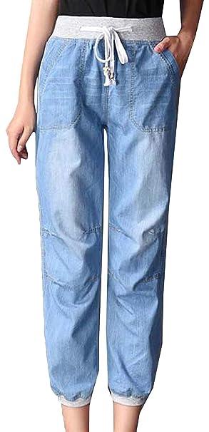Pantalón Boyfriend Jeans para Mujer Pantalones Vaqueros con ...