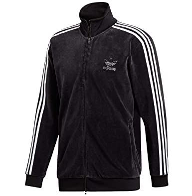 a4368c2eb63891 Image Unavailable. Image not available for. Color  adidas Originals Men s Velour  BB Track Top Black Small