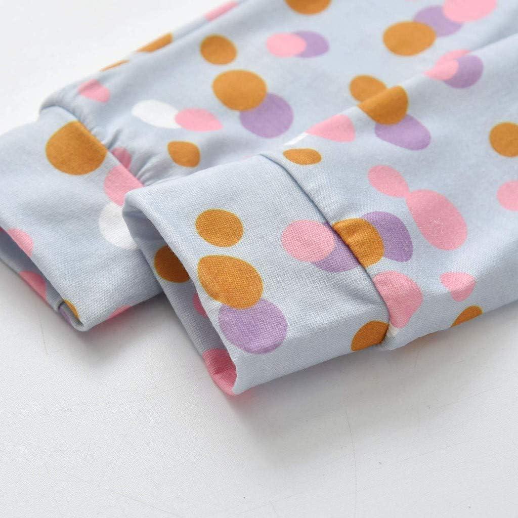 Cwemimifa Baby M/ädchen Brief Drucken Langarm Sweatshirt Wellenpunkt Hosen Haarband Trainingsanzug Outfits Set