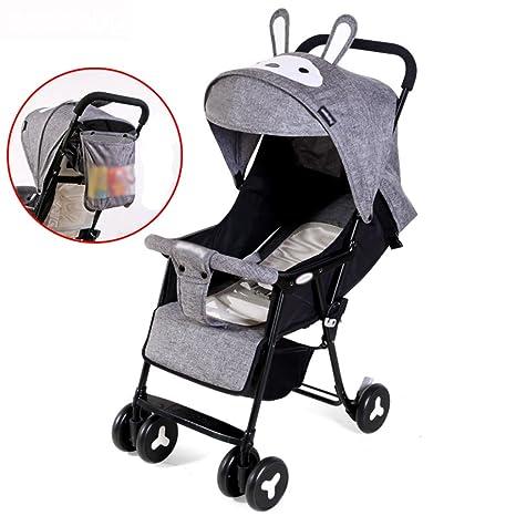 &Carrito de bebé El carro de bebé apoyabrazos completamente desmontables mienten la luz que dobla el