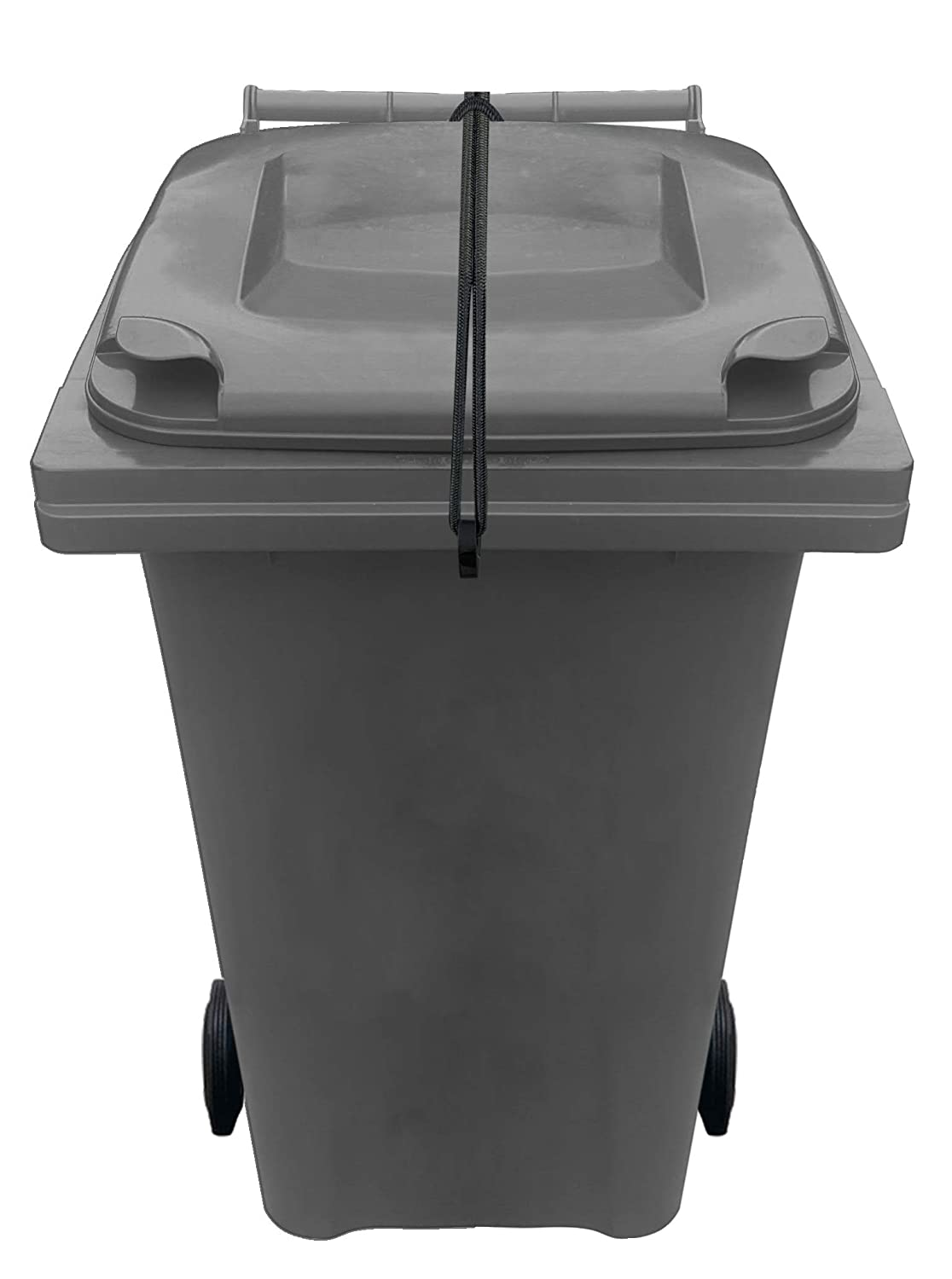 Wheelie Bin Lid Strap Lock - No Drilling - Secure Contents From Spilling - Stop Wind or Vandals Tipping - Easy Fitting - (dual bin pack) Easylife Tools