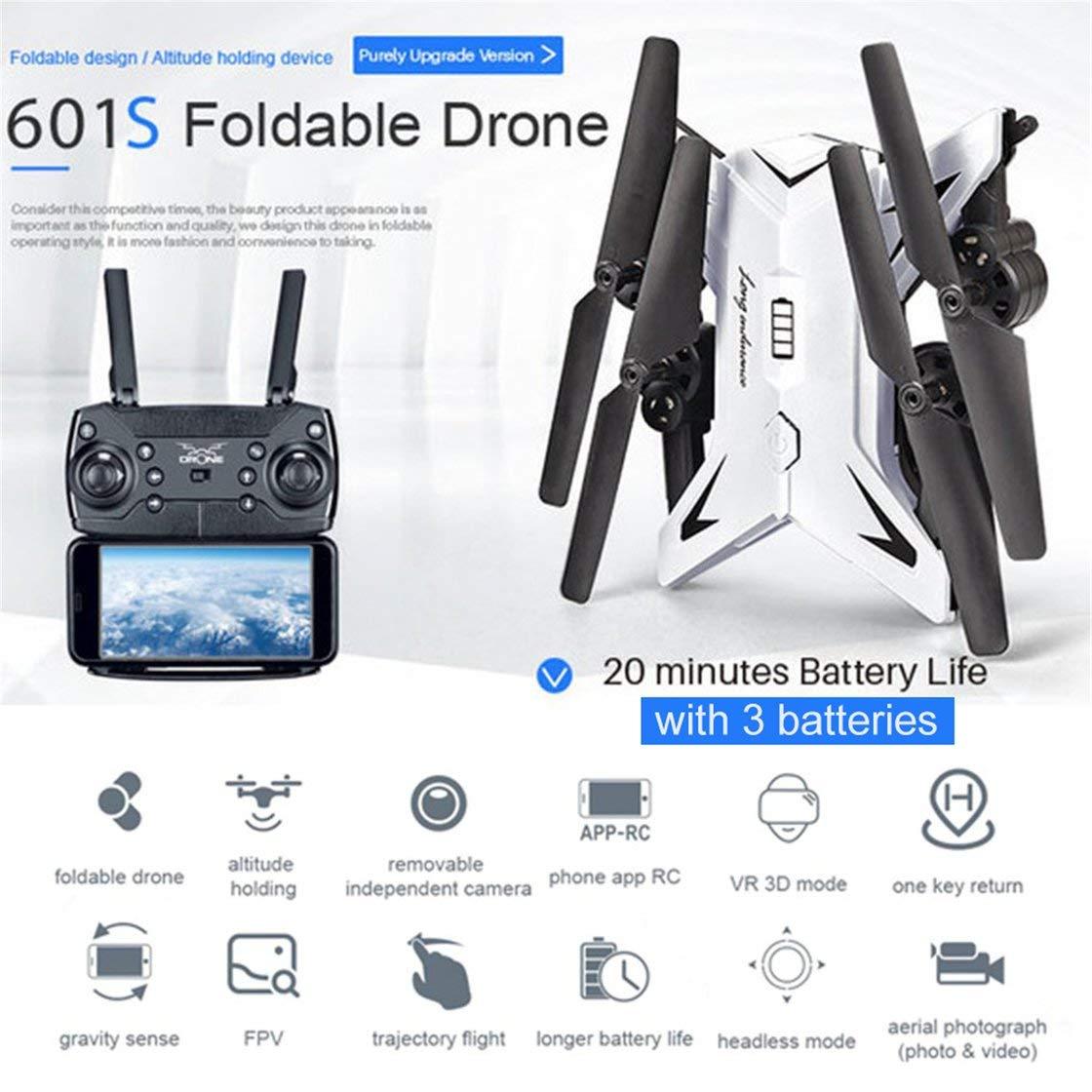 Hermosairis KY601S RC Drohne Mit 1080 Watt Kamera Kamera Kamera Schwerkraftsinn FPV Quadcopter 20 Minuten Spielzeit DREI Batterie Version Drone Spielzeug 0aeb6b