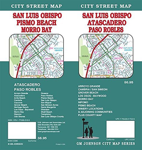 San Luis Obispo, California Street Map