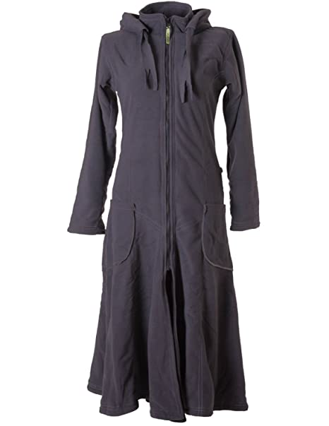 the best attitude c9d91 528fb Vishes – Alternative Bekleidung – Langer, Warmer Fleece Mantel mit  Zipfelkapuze