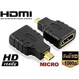 Techly Adattatore HDMI a micro HDMI tipo D F/M