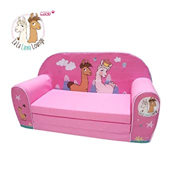 Knorrtoys La-La-Lama Lounge sofá para niños Rosa - Sofás ...