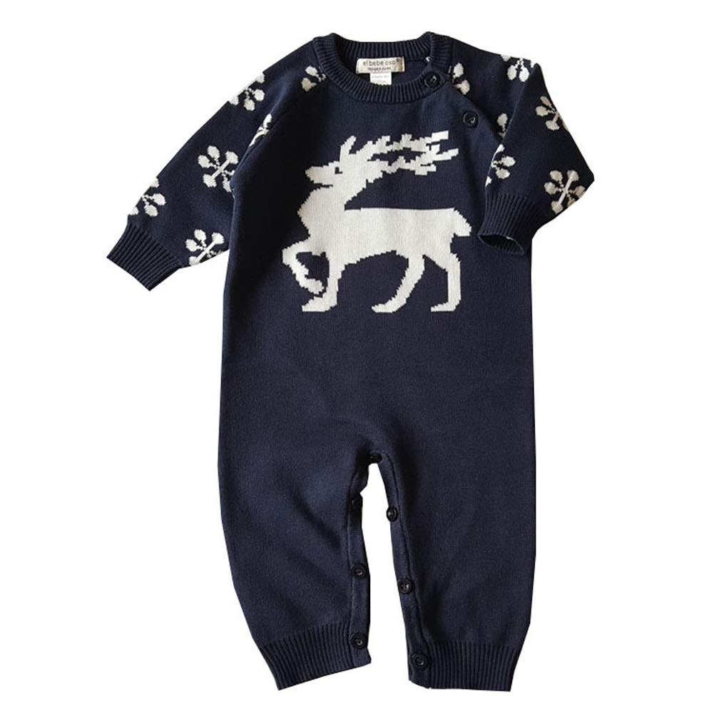 cb3e058ca Amazon.com  AIKSSOO Infant Baby Toddler Christmas Outfit Reindeer ...