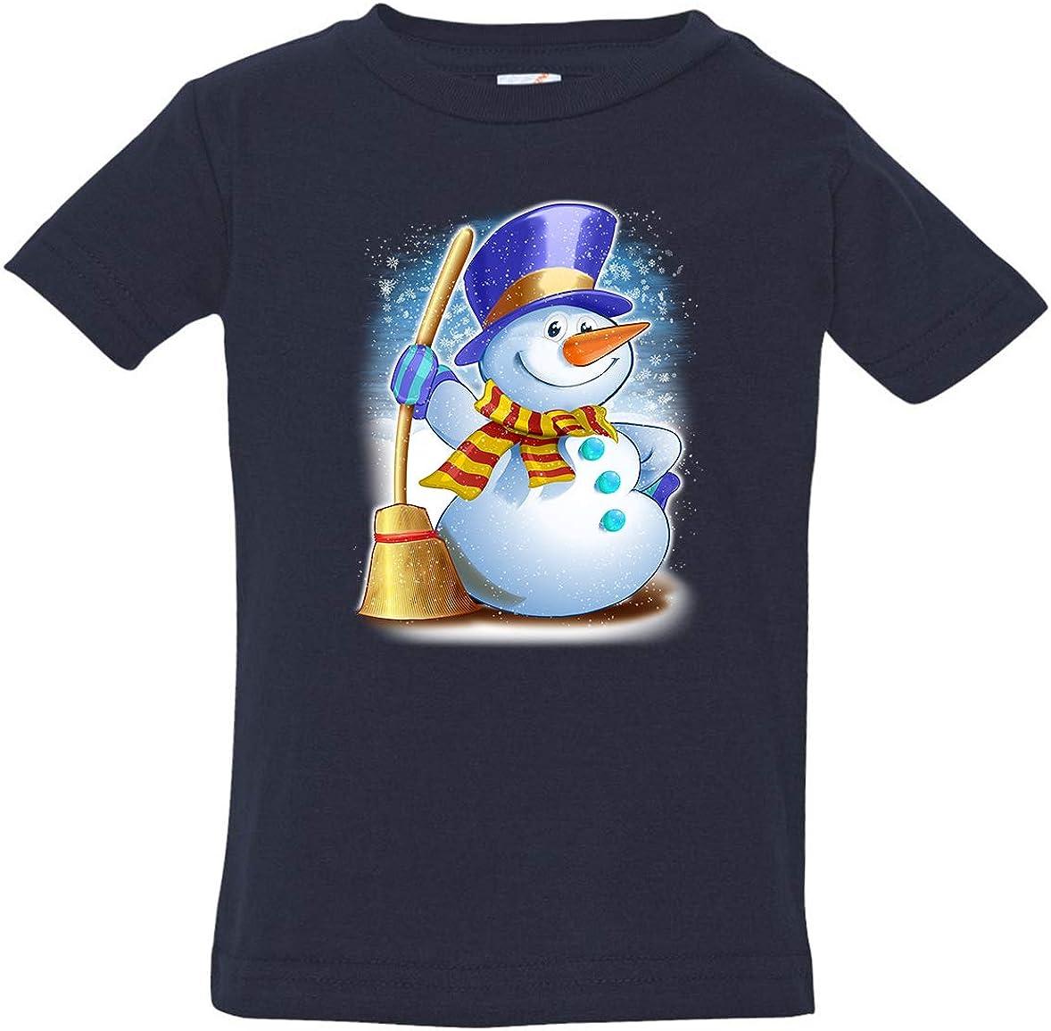Tenacitee Babys Happy Snowman Shirt