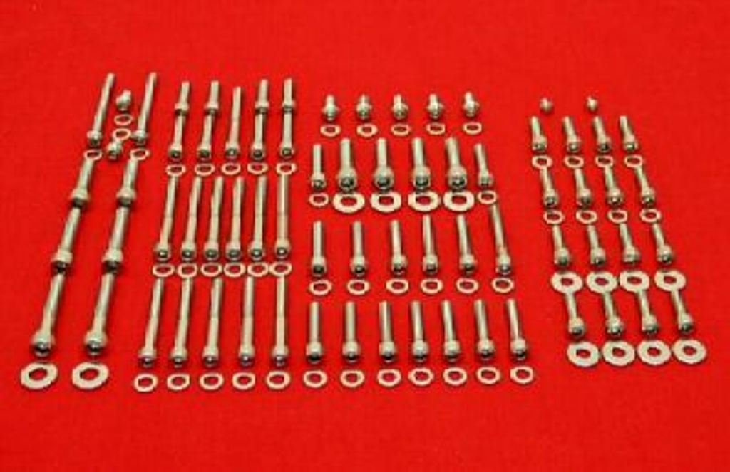 COMPATIBLE WITH THE 1968-1978 HONDA SOHC CB750 POLISHED STAINLESS STEEL ENGINE ALLEN BOLT SCREW KIT SET ALLOYBOLTZ