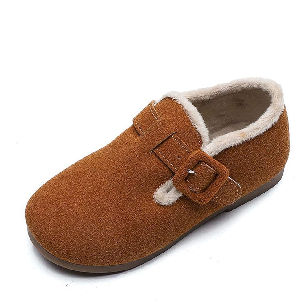 MINIKATA Girls Boys Warm Winter Flat Shoes Bailey Snow Boots