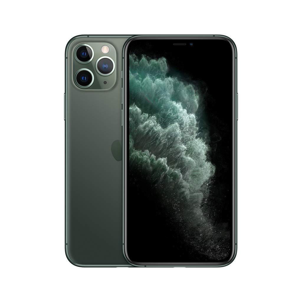 Apple iPhone 11 Pro, 64GB, Midnight Green - Fully Unlocked (Renewed)