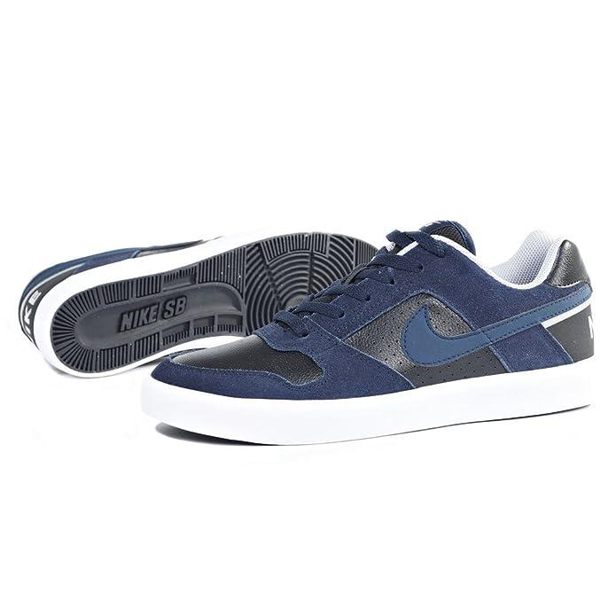 Amazon.com | NIKE SB Delta Force Vulc Mens Skateboarding-Shoes 942237-440_12 - Obsidian/Obsidian-Black-Wolf Grey | Fashion Sneakers