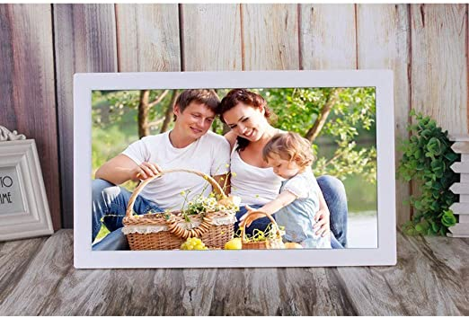 CVEUE Digital Photo Frame 18.5 Inch Digital Picture Frame 1366768 Pixels High Resolution High Resolution LED Screen USB and SD Card Slots Aluminum Alloy Suit for Home and Office