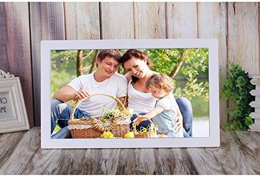 JIANGXIUQIN Digital Frame 18.5 Inch Digital Picture Frame 1366768 Pixels High Resolution High Resolution LED Screen USB and SD Card Slots Aluminum Alloy Ultra-Thin Narrow Side High Resolution Display