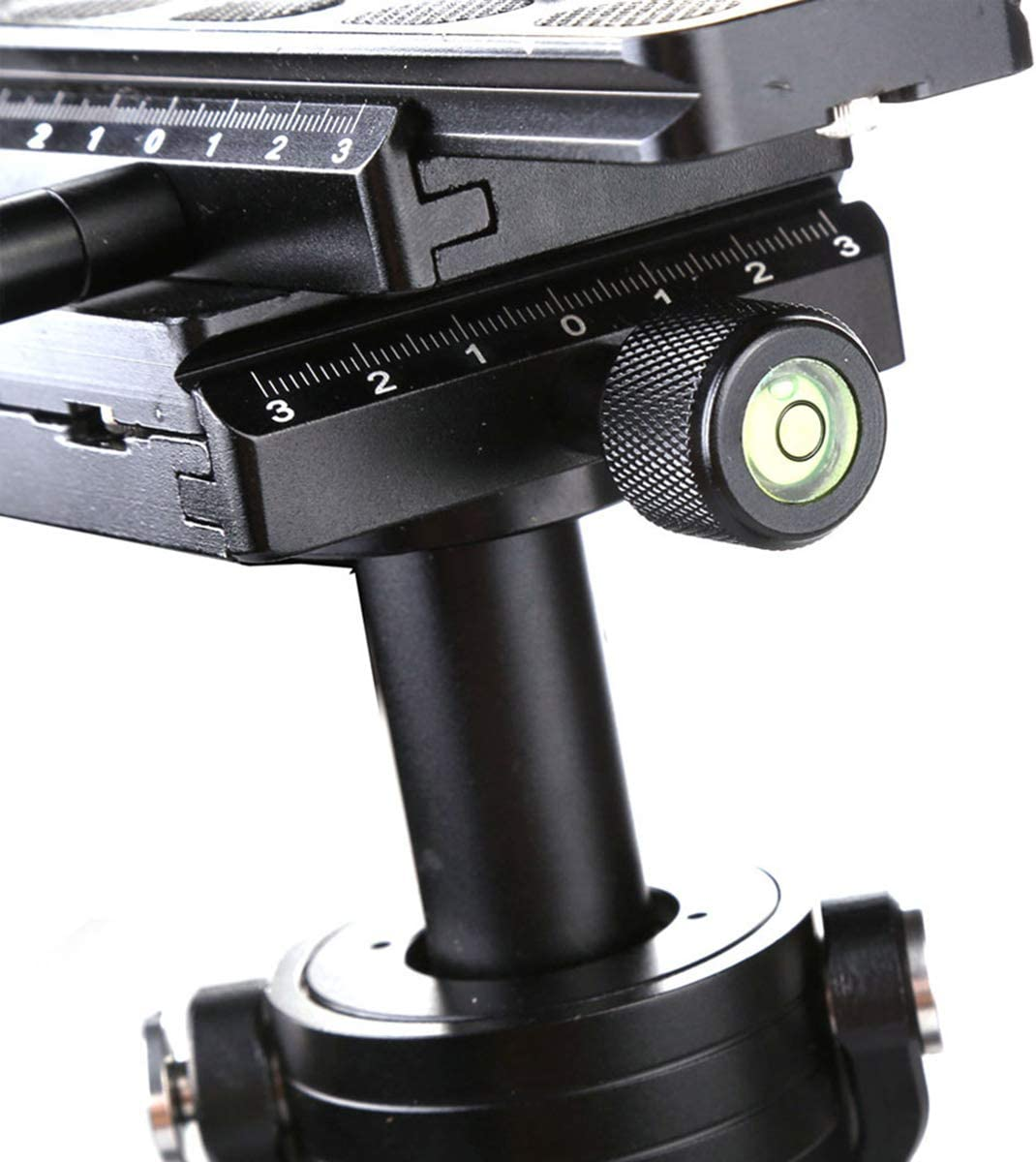 Carbon Fiber 24 Inches//60 Centimeters Handheld Stabilizer with 1//4 3//8 Inch Screw Quick Shoe Plate for Canon Nikon Sony and Other DSLR Camera Video DV Up to 6.6 Pounds//3 Kilograms Black