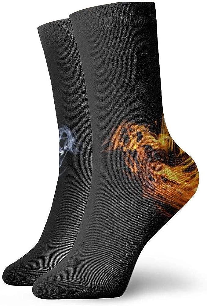Nifdhkw Calcetines cortos de algodón con diseño de pájaro y ...